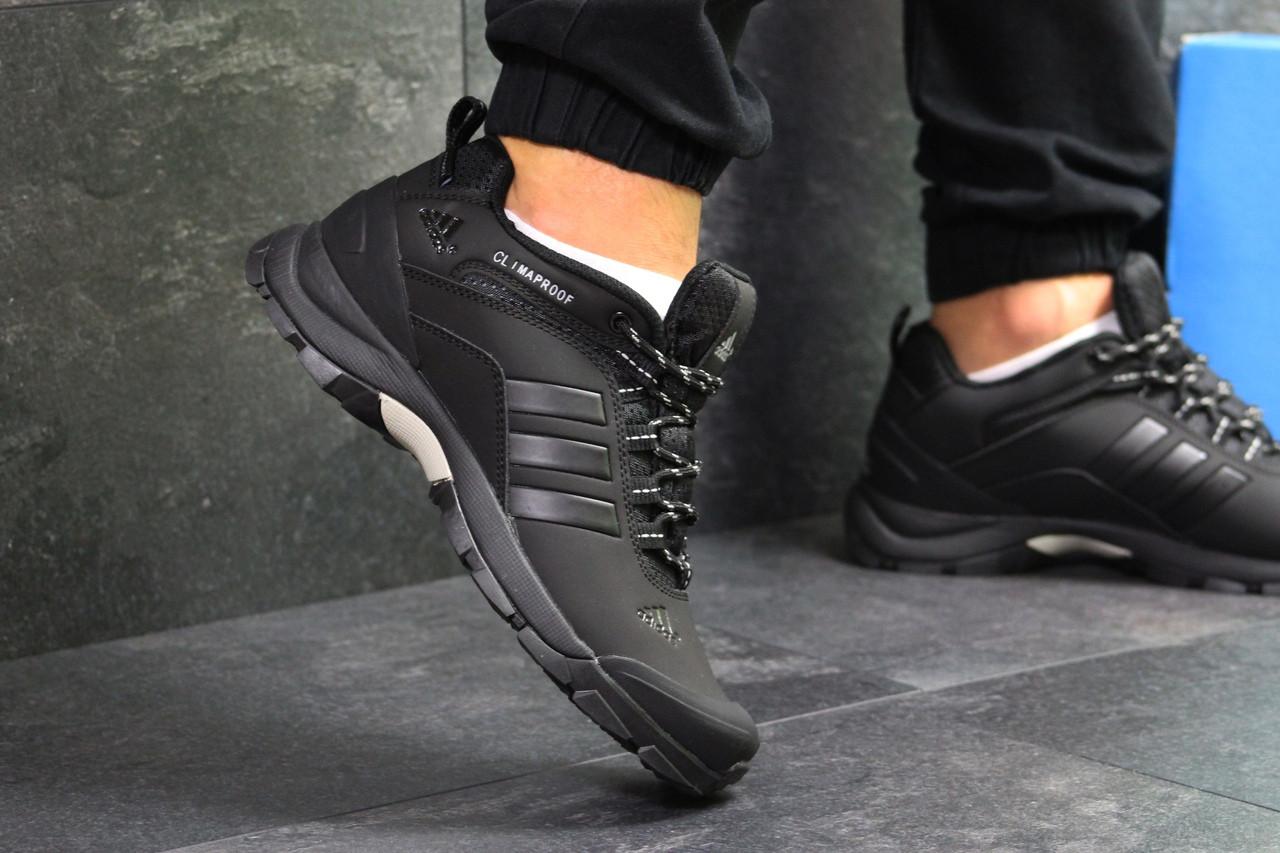 Кроссовки мужские Adidas Climaproof  осенние еврозима теплые удобные спортивные повседневные (черные), ТОП-реп