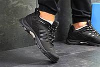 Кроссовки мужские Adidas Climaproof  осенние еврозима теплые удобные спортивные повседневные (черные), ТОП-реп, фото 1