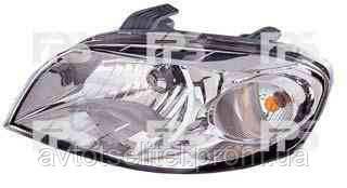 Фара передняя для Chevrolet Aveo 06-11 левая (DEPO) механическая