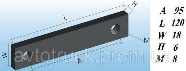 Подкладка для петли бортовой для полуприцепа, 120 мм