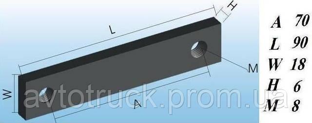 Подкладка для петли бортовой для полуприцепа, 90 мм
