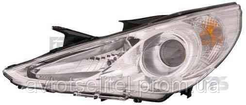 Фара передняя для Hyundai Sonata 10- левая (FPS) механическая/под электрокорректор