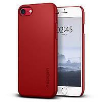 Чехол Spigen для iPhone 8/7 Thin Fit, Red (042CS22831), фото 1