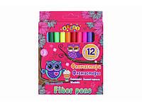 Фломастери 12 кольорів в картонній коробці  The owl world  7800