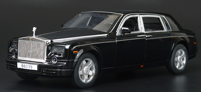 Коллекционная машинка Rolls Royce Phantom черная металлическая модель в масштабе 1:32