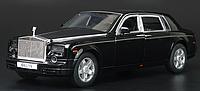 Коллекционная машинка Rolls Royce Phantom черная металлическая модель в масштабе 1:32, фото 1