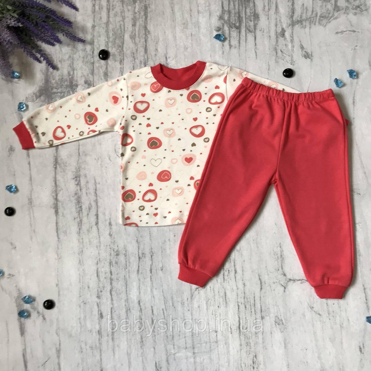 Пижама детская Babyjoy на девочку 2/6. Размеры  80 см