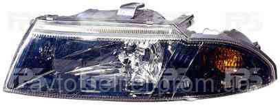 Фара передняя для Mitsubishi Carisma 99-04 левая (DEPO) темный рассеиватель