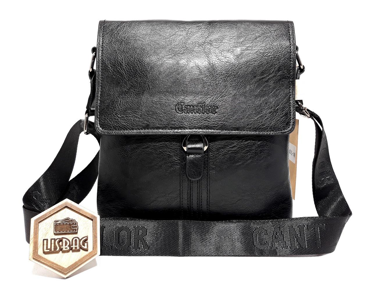 94491f1a3633 Мужская повседневная сумка планшетка Cantlor хорошего качества Черная -  Интернет магазин Lisbag в Умани