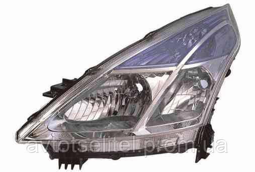 Фара передняя для Nissan Teana 08- левая (DEPO) H11 + H9 под электрокорректор
