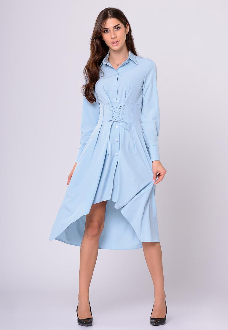 Платье LiLove 389 46 голубой