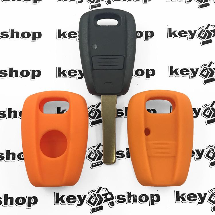 Чохол (оранжевий, силіконовий) для авто ключа (Фіат) 1 кнопка