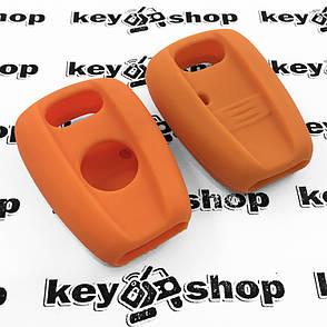 Чохол (оранжевий, силіконовий) для авто ключа (Фіат) 1 кнопка, фото 2