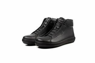 Мужские зимние ботинки из натуральной кожи - Emperio