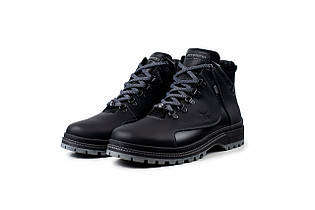 Зимние ботинки из кожи на шнуровке для мужчин - Emperio