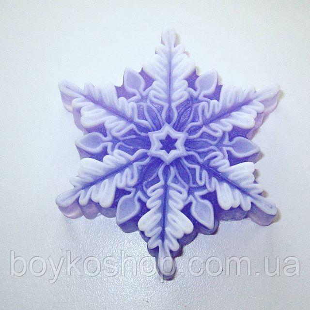 Силиконовая форма снежинка ажурная 3D