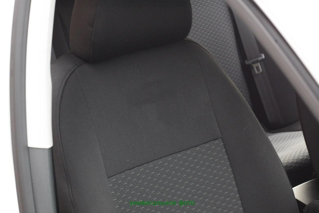 Чехлы салона Nissan Qashqai II  (5 мест) с 2014 г, /Черный