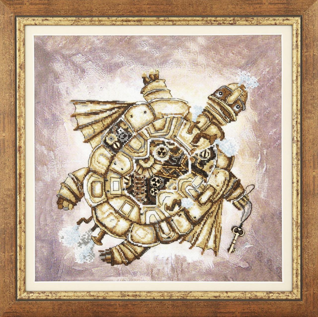 """Набор для частичной вышивки крестом Чарівна Мить РК-135 """"Золотая черепаха"""", Код товара: 1064348"""