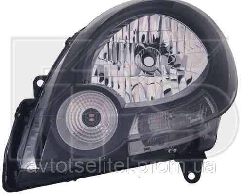 Фара передняя для Renault Kangoo 09- правая (DEPO) черный отражатель под электрокорректор