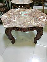 Кофейный столик Малайзия  дерево+ мрамор 237Е