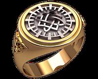 Золотой перстень Покров в кругу