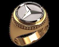 Золотой перстень Mercedes