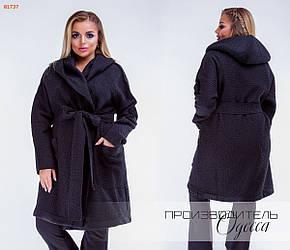 Пальто женское букле удлиненное Большого размера