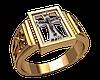 Золотой перстень с крестом