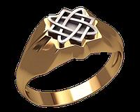 Золотой перстень Звезда Лады