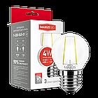 LED-лампа MAXUS (filam), G45, 4W, теплый свет, E27 (1-LED-545-01), фото 2
