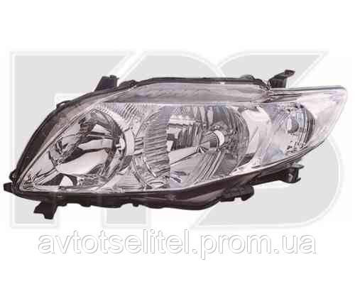 Фара передняя для Toyota Corolla 07-09 правая (DEPO) механическая/под электрокорректор