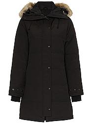 Женская парка Canada Goose Shelburne Parka длинная зимняя куртка парка Канада Гус с мехом черная, размер М