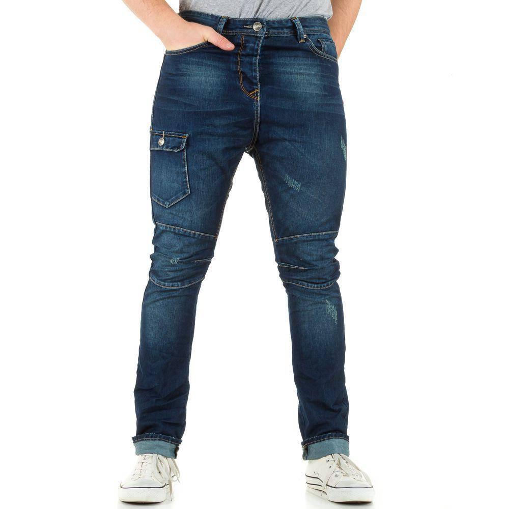 Джинсы мужские с накладным карманом Sixth June (Европа), Темно-синий