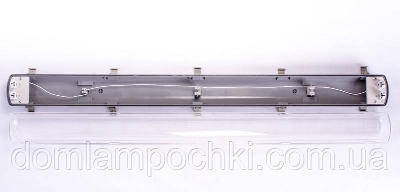 Корпус светильника герметичный ЮАС  с отражателем 2х36