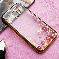Чехол Luxury для Samsung J4 2018 / J400F Бампер ультратонкий Gold