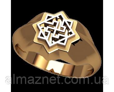 Золотой перстень 585 пробы Славянский символ 15