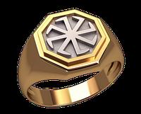 Золотой перстень 585 пробы Славянский символ 22