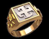 Золотой перстень 585 пробы Славянский символ 25