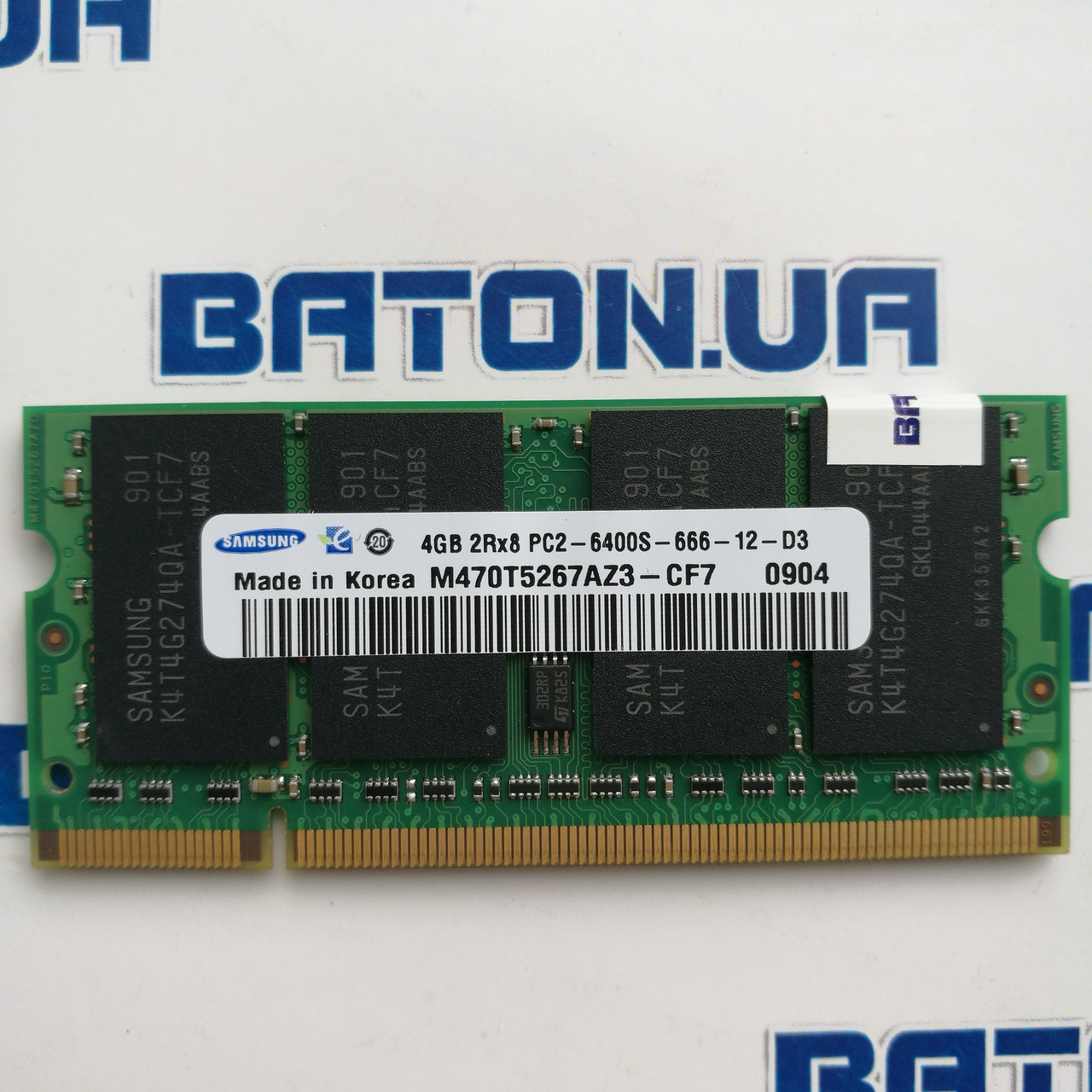 Оперативная память для ноутбука Samsung SODIMM DDR2 4Gb 800MHz 6400s CL6 (M470T5267AZ3-CF7) Б/У