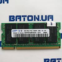 Оперативная память для ноутбука Samsung SODIMM DDR2 4Gb 800MHz 6400s CL6 (M470T5267AZ3-CF7) Б/У, фото 1