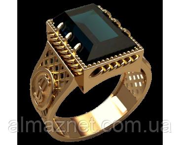 Золотой перстень 585 пробы Славянский символ 7