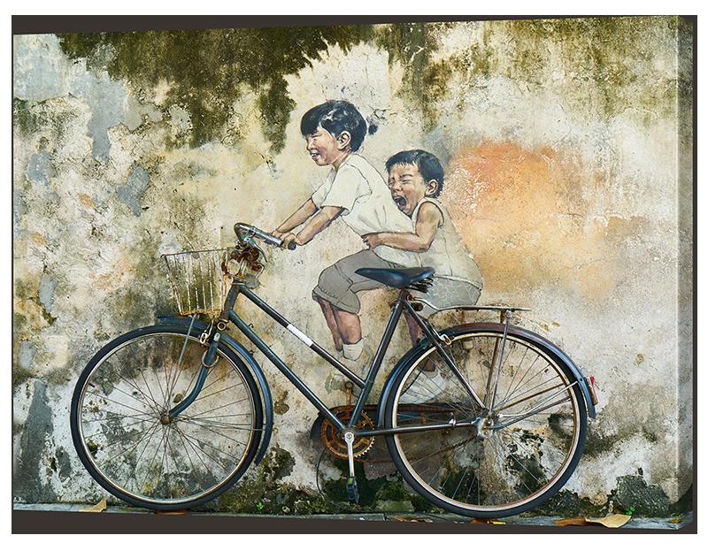 """Картина """"Дети и велосипед"""""""