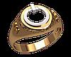 Золотой перстень с отверстием