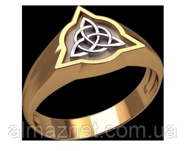 Золотой перстень Славянский символ 2