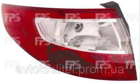 Фонарь задний для Renault Fluence 10- левый (DEPO) внешний