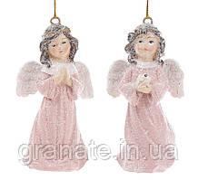 """Елочное украшение """"Ангелы"""" 9 см (12 шт. 2 вида)"""