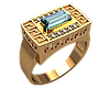 Золотая печатка Египетская