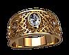 Мужское золотое кольцо Персия