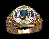 Мужское золотое кольцо Египет