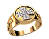 Мужское кольцо Железный крест из золота
